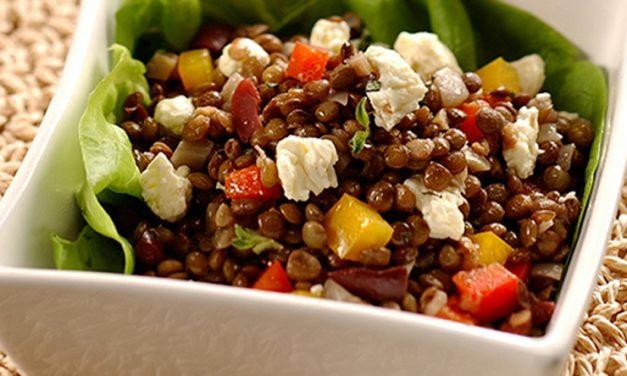 Salade de lentilles pour un régime minceur