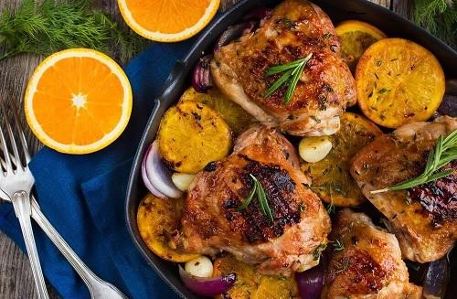 Poulet rôti à l'orange et au romarin : Délicieuse recette
