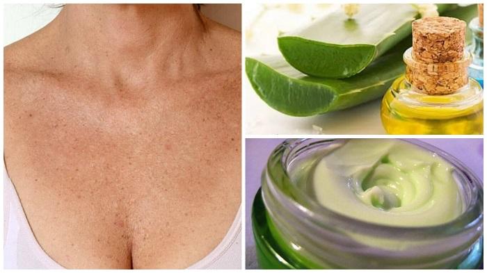 Aloe vera pour raffermir la peau-lifting cou et décolleté