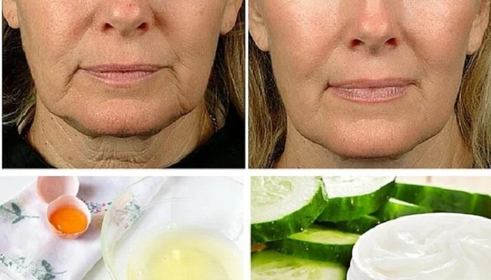 concombre pour lisser la peau du cou
